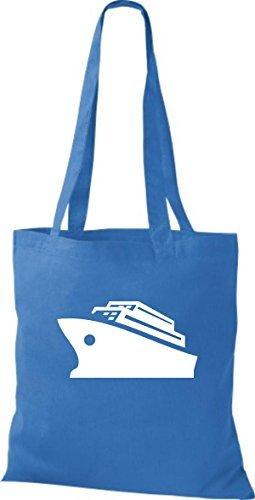 JUTA Borsa di stoffa CROCIERA, Nave, Nave passeggeri Blu reale