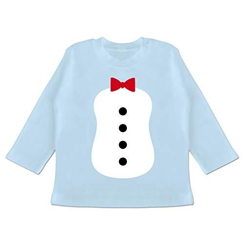 Kostüm Monate Pinguin 18 - Karneval und Fasching Baby - Pinguin Karneval Kostüm - 12-18 Monate - Babyblau - BZ11 - Baby T-Shirt Langarm