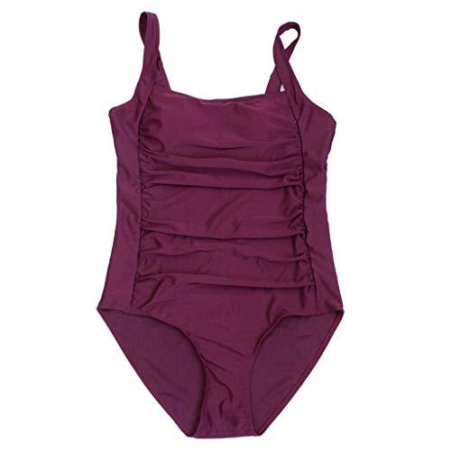 amen Bauchweg Figurformend Beachwear Strandmode Damen Einteilige Blumen Einfarbig Badeanzug Verstellbarer Schultergurt Badeanzüge Falten Bademode Schwimmanzug ()