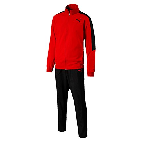 Puma Classic Woven Suit Op Trainingsanzug Flame Scarlet-Puma Black