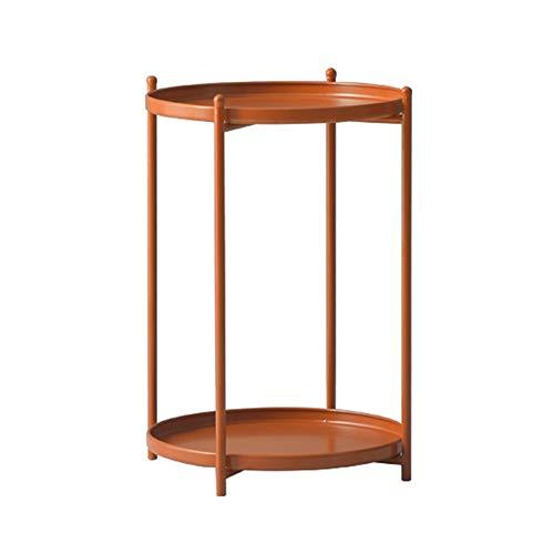 Xyanzi kaffeetische Sofa Beistelltisch, Schlafzimmer Nachttisch Runden Eisen Kleinen Couchtisch Mobile Lagerregal für Wohnzimmer Schlafzimmer Flur Büro (Color : Orange) | Schlafzimmer > Nachttische | Xyanzi