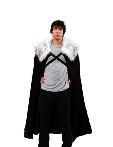 Encore Cosplay Halloween Lord Schnee Kostüm für Herren, Umhang, für Cosplay (Medium, Grey fur) (Ned Stark Kostüm)