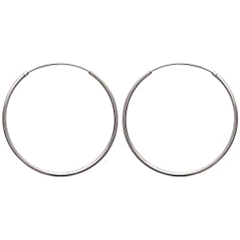 Orecchini da donna a cerchio in argento,