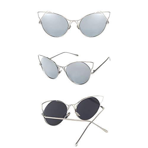 Riving Sonnenbrillen Cat Eye Hipster Sonnenbrillen Distaff Vacuous Sunglasses Damen Sonnenbrillen Brille (Farbe : L4)