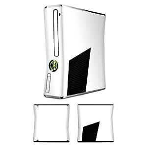 Skin kompatibel mit Microsoft Xbox 360 Slim Aufkleber Folie Sticker Weiß Weiss White