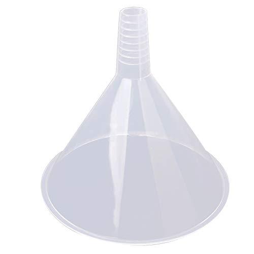 150 mm de plástico Embudo transparente con tolva grande duradero Triángulo colador reutilizable para la cocina/laboratorio/Garaje/Líquidos de coches Herramientas domésticas muy prácticas. Vistoso