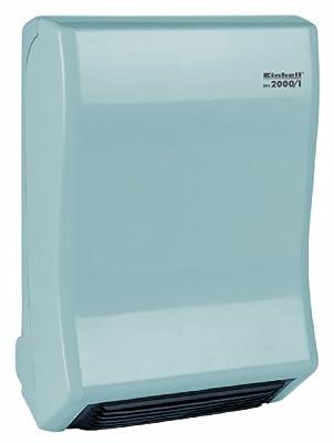 Einhell Bad Heizstrahler BH 2000/1 (2000 Watt, 2 Heizstufen, Gebläsebetrieb, einstellbares Thermostat, Wandhalterung) von Einhell - Heizstrahler Onlineshop