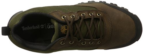 Timberland Keel Ridge Waterproof Fabric and Leather, Scarpe Stringate Oxford Uomo Marrone (Dark Brown Fg 242)