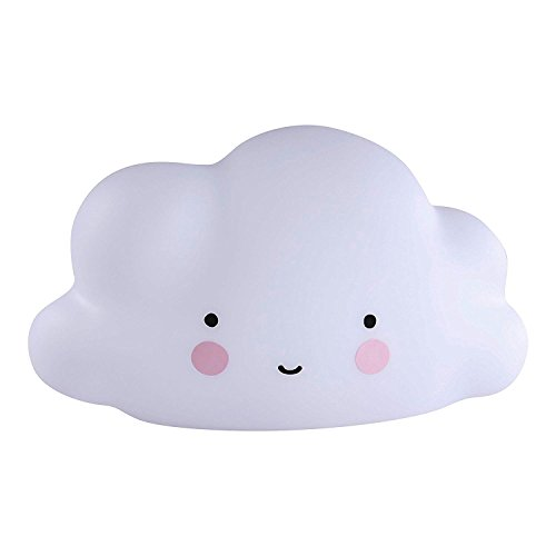 IHRKleid® LED Nachtlicht Wolken Design - Batterie, süße Nachttisch Lampe für Kinder und Babys in Weiß, Mini Cloud Light LampeNachtlampe/Kinderlampe/Nachtlicht/Wandleuchte für Schlafzimmer, Kinderzimmer (Weiß)