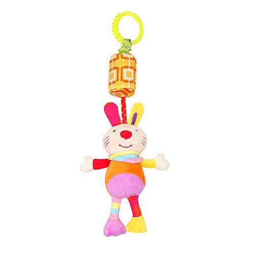 San Bodhi® niedliches Tierspielzeug für Kleinkinder, Babyspielzeug, Glocke, Bett, Kinderwagen, hängende Ornamente - Viktorianischen Bett Holz Bett
