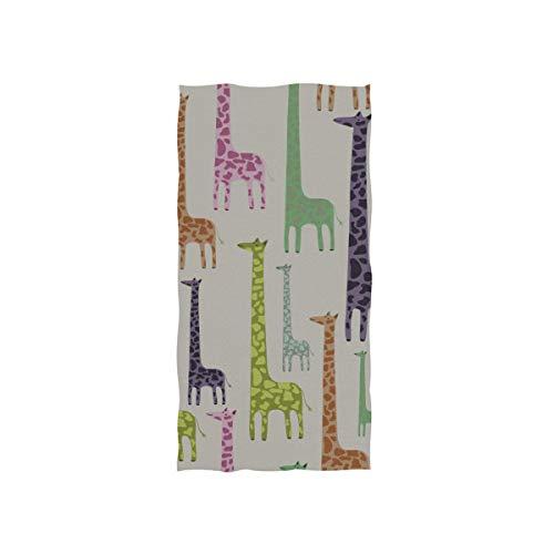 Giraffe Slender Neck Weiche Spa Strand Badetuch Fingerspitze Handtuch Waschlappen Für Baby Erwachsene Bad Strand Dusche Wrap Hotel Travel Gym Sport 30x15 Zoll