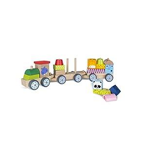 Tren madera con piezas de animales - ColorBaby
