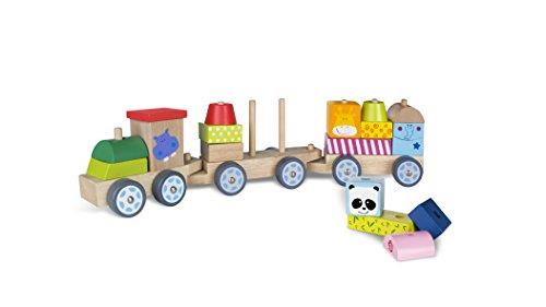 ColorBaby - Tren madera con piezas de animales (40997)