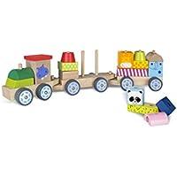 ColorBaby 40997 - Tren madera con piezas de animales
