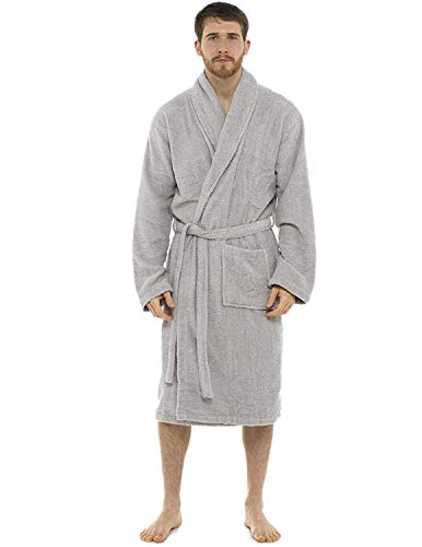 CityComfort Bata baño Hombres Bata algodón