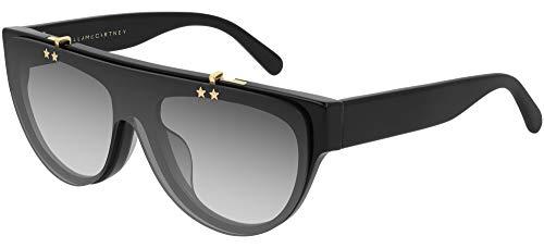 Stella mccartney occhiali da sole sc0211s black/grey shaded 53/17/140 donna