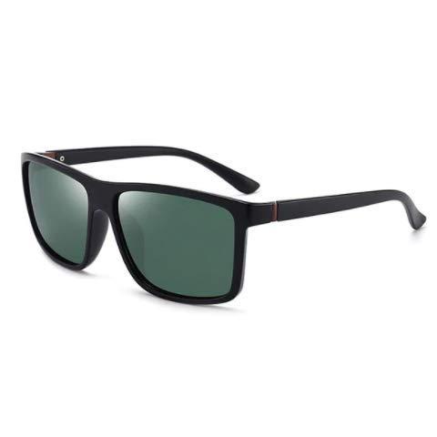 WENZHEN Simple Style Solid Frame Polarized Sonnenbrille, Haselgrün