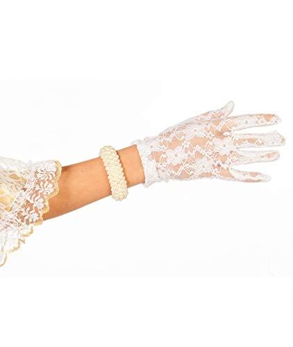narrenkiste W52010-02 weiß Damen Spitzen (Varieté Kostüm Muster)