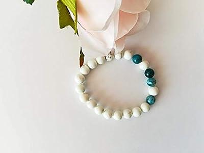 bracelet minceur, bracelet apatite, bracelet magnesite, bracelet pierres naturelles, bracelet tibetain, cadeau Saint valentin