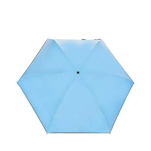 comechen Mango Plegable sin Paraguas, Adecuado para Hombres y Mujeres de Todos los Colores,Sombrillas Parasol ultraligeras 50% color4 85cm