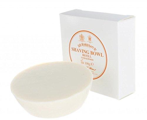 Sandelholz Rasierseife Refill (D.R.Harris & Co Sandalwood Triple-Milled Shaving Soap Refill 100g)