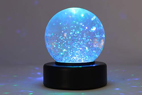Playlearn Glitzer Schnee Ball mit LED Leuchte -