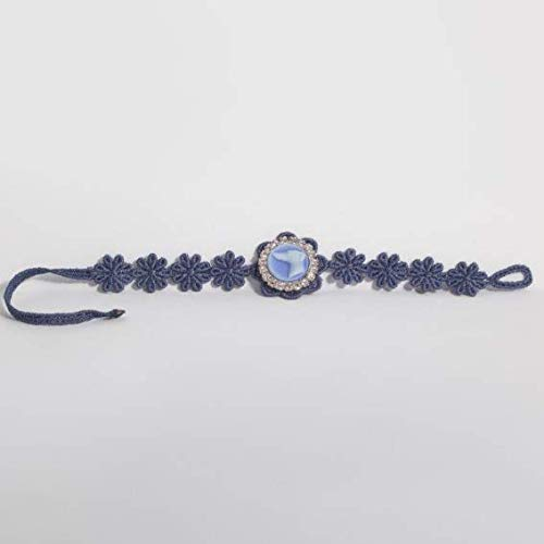 Imagen de jewels' joy  pulsera de macramé levriero azul