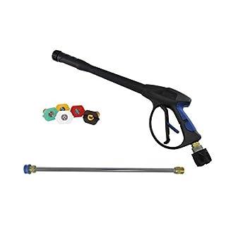 pwpuk Hochdruckreiniger Pistole und Lanze, Schnellentriegelungsdüsen & Verlängerungslanze, passend für Kärcher K2 & K3