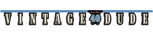 Unbekannt Creative Converting Vintage Dude zum 40. Geburtstag Jointed Letter Banner (Dekorationen Vintage Dude-party)