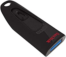 SanDisk Ultra 128GB USB-Flash-Laufwerk USB 3.0 bis zu 100MB/Sek, Single Pack, Schwarz