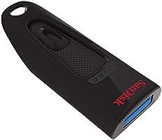 SanDisk Ultra 32GB USB-Flash-Laufwerk USB 3.0 bis zu 100MB/Sek, Single Pack, Schwarz