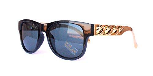 Jahre Vintage Sonnenbrille Sommerbrille Clubmaster Style Rockabilly Trend 2017 2018 Mode Fashion Fashionbrille Designer Brille Gold Schwarz ()