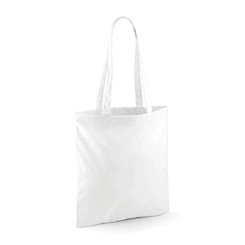 Westford Mill Baumwoll Shoulder Tote Schultertasche Weiß -