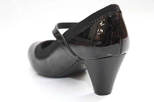 Femme Confort Talon Bas Bureau brevet Mary Jane Cour Chaussures Taille 3–8 Noir - noir