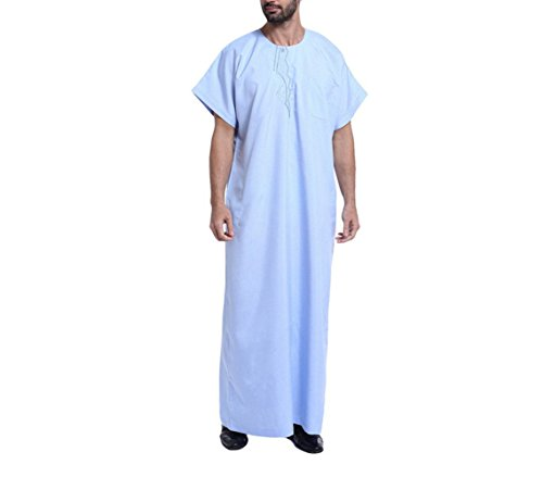 nner Roben Saudi Arabien Kostüm Casual Männlichen Kaftan Kleidung,Blue,XL (Asiatische Kostüme Männlich)