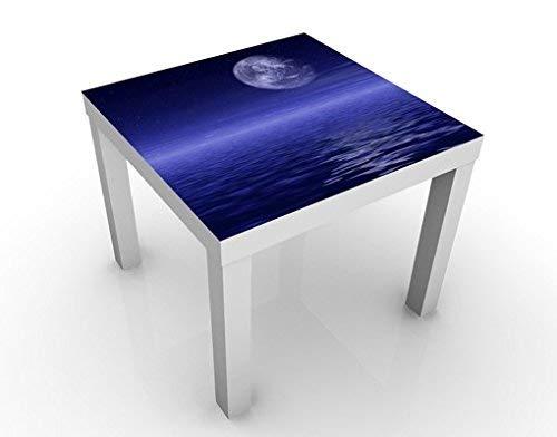 Apalis 46594-277242 Design Moon and Table Ocean, 55 x 55 x 45 cm, Bleu, 45x55