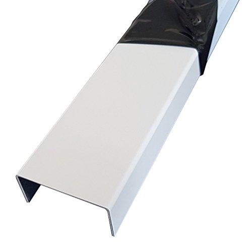 1500mm Aluminium U-Profil 15x70x15mm Abdeckprofil aus 1,5mm Aluminium Verkehrsweiß RAL 9016 Einfassprofil, Kantenprofil