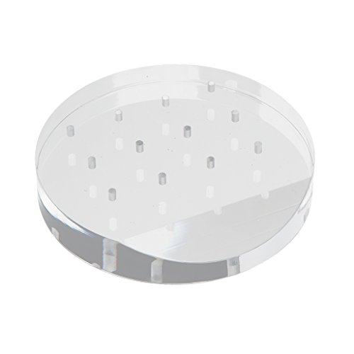 Sharplace Nagelfräser Bits Halter Acryl Aufbewahrungsbox mit 12 Löchern für Nagelfräser Schleifstift Schleifkörper