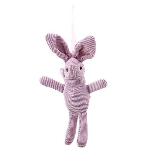 VWH Kaninchen plüschtier niedlich weiche anhänger plüsch Bunny Spielzeug Puppe DIY Ornamente Geschenke (rosa)