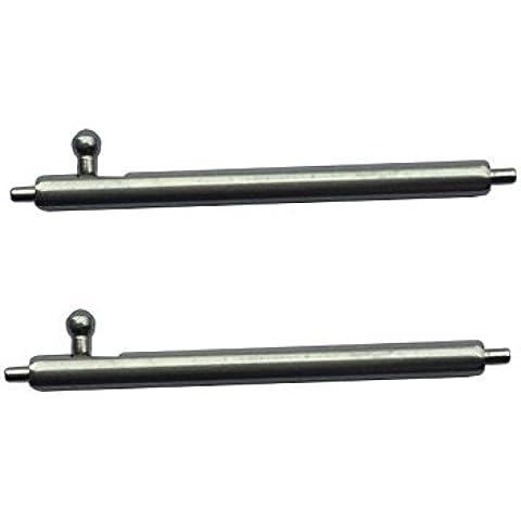 TRUMiRR 18 millimetri x 1,5 millimetri a sgancio rapido della barra della molla in acciaio inox con pulsante cilindrico per il cinturino (set di due)