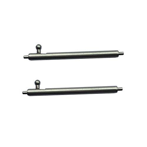 TRUMiRR 22 millimetri x 1,5 millimetri a sgancio rapido della barra della molla in acciaio inox con pulsante cilindrico per il cinturino (set di due)