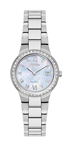 Citizen Watch Women's Analogue Solar Powered Stainless Steel Strap EW1990-58D