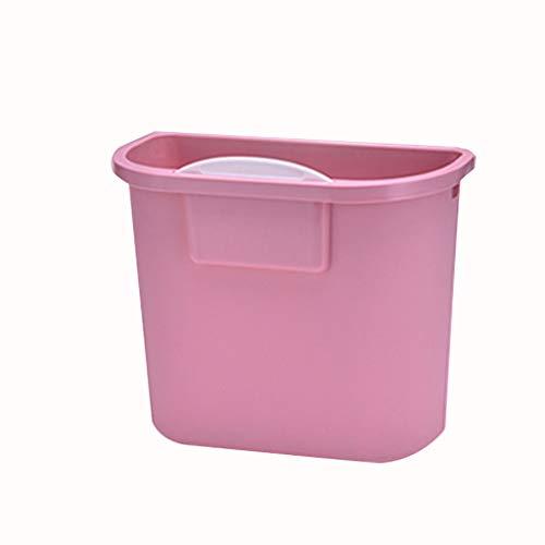 Zlw-shop Secchi per la spazzatura Contenitore di immondizia dell'immondizia del Cestino di Carta della Famiglia della pattumiera appiccicosa (Color : Pink)
