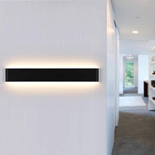 Luminaire mural LED Intérieur Moderne Mural Lavage Éclairage Salon, Chambre À Coucher, Couloir LED Applique Murale En Acrylique Dépoli Noir LED Applique Applique Murale Vers Le Bas