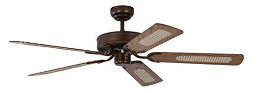 Pepeo Potkuri ventilador de techo sin luz, carcasa de bronce