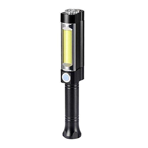 Onlyesh LED Arbeitsleuchte Werkstattlampe COB LED Taschenlampe mit Magnetfuß Magnet Teleskopstange 3 Leucht-Modi für Werkstatt Auto Notfall Camping,Batteriebetrieben,Batterie nicht enthältet