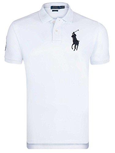 Polo Ralph lauren Manches Courtes Blanc Big Pony Noir - Homme 3XL (Shirt Pony Big)