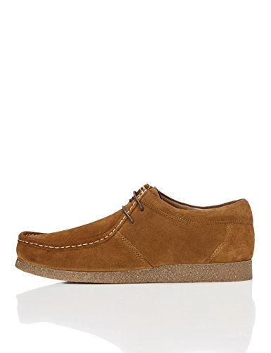 FIND Herren Wallabees aus Veloursleder, Beige (Tan), 41 EU