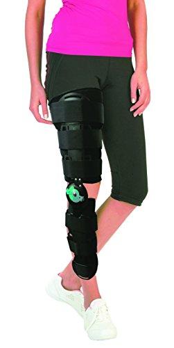 SohleGummi Knieorthese (Universal) - Oberschenkel-zu-Knöchel Bein Stabilisierung - Unterstützt die Wiederherstellung nach Verletzungen aufgrund von ACL-, PCL-, MCL oder LCL-Operationen - Unisex -
