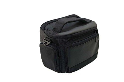 vhbw XL Universal Tasche schwarz/rot Regenschutz für Kamera, Camcorder, Fotoapparat Sony Alpha A68, NEX-3, NEX-3N, NEX-5, NEX-5K, NEX-5N, NEX-5R